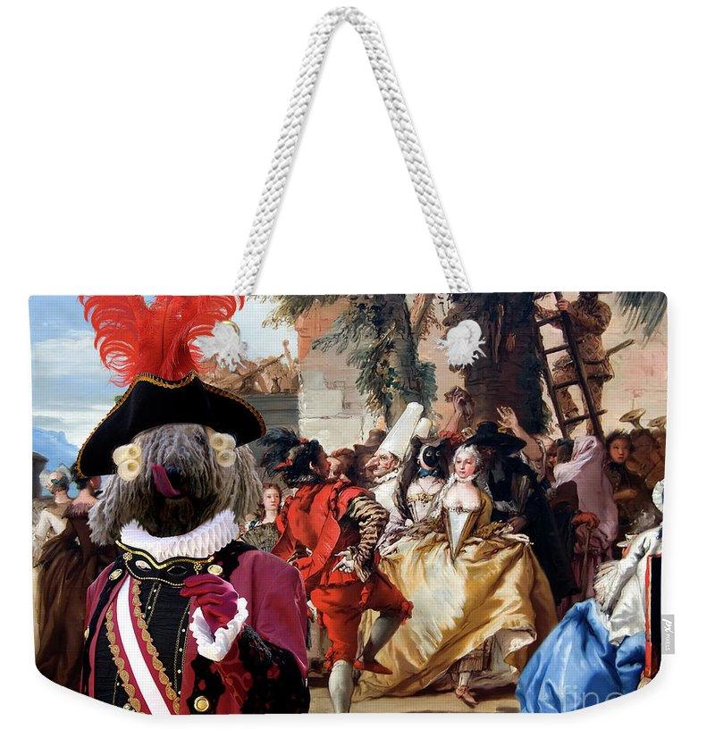 Komondor Weekender Tote Bag featuring the painting Komondor Art Canvas Print - The Carnival Dance by Sandra Sij