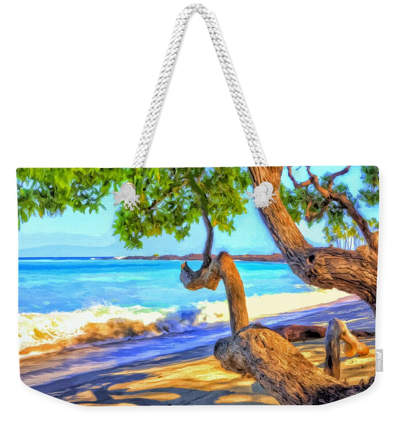 Morning Weekender Tote Bag featuring the painting Kona Morning Glow by Dominic Piperata