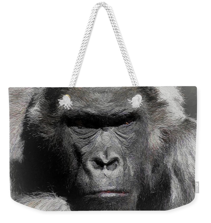 Kong Weekender Tote Bag featuring the photograph Kong Of The Jungle - Painted by Ericamaxine Price