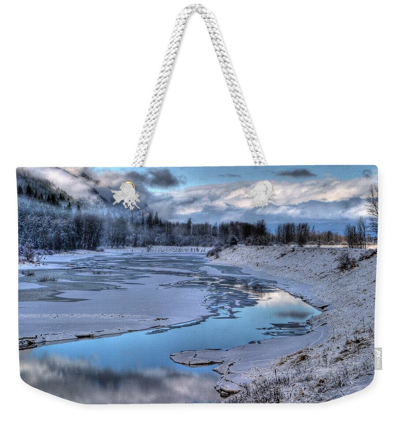 Landscape Weekender Tote Bag featuring the photograph Kootenai Wildlife Refuge 1 by Lee Santa