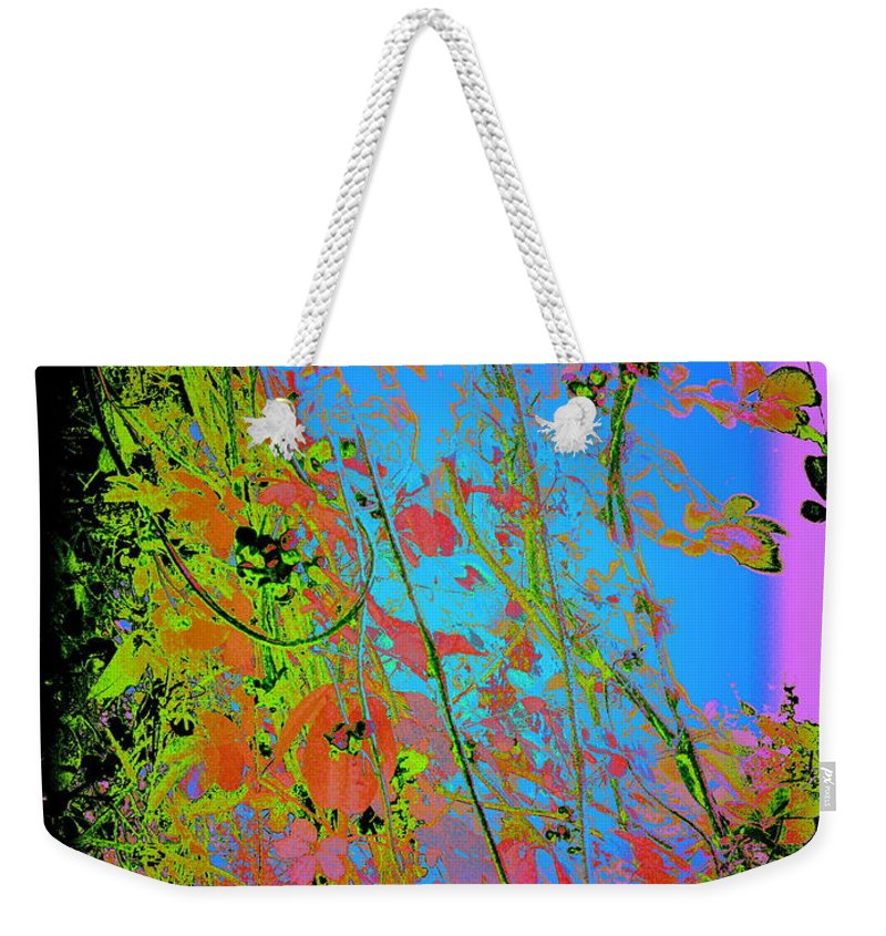 Photography Weekender Tote Bag featuring the photograph Korean Akebia Quinata by Nancy Kane Chapman