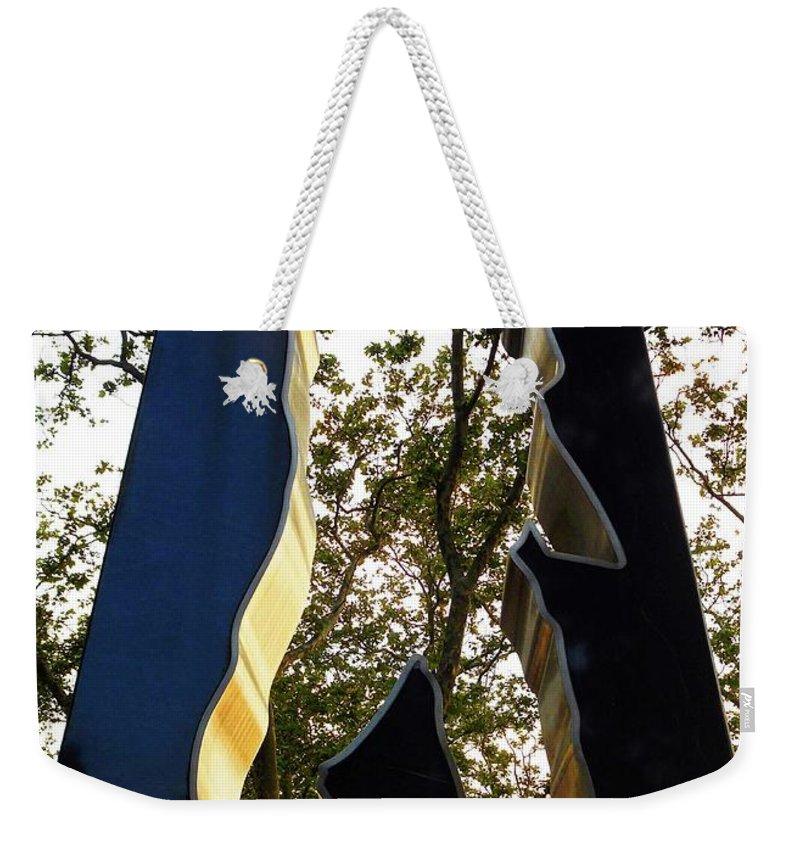 Korean War Memorial Weekender Tote Bag featuring the photograph N Y Korean War Memorial 3 by Ron Kandt