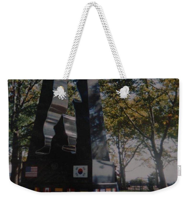 Korea Weekender Tote Bag featuring the photograph Korean War Memorial by Rob Hans
