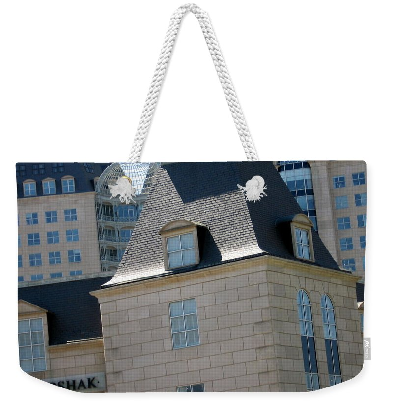 Hotel Weekender Tote Bag featuring the photograph Korshak Dallas by Amy Hosp