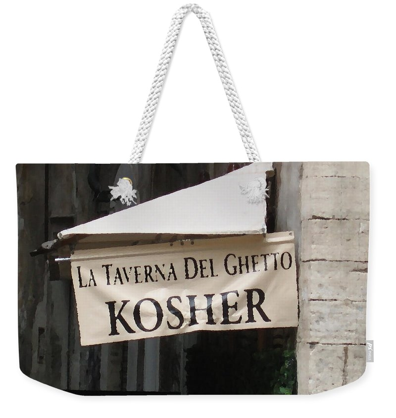 Kosher Weekender Tote Bag featuring the photograph Kosher by Rhonda Chase
