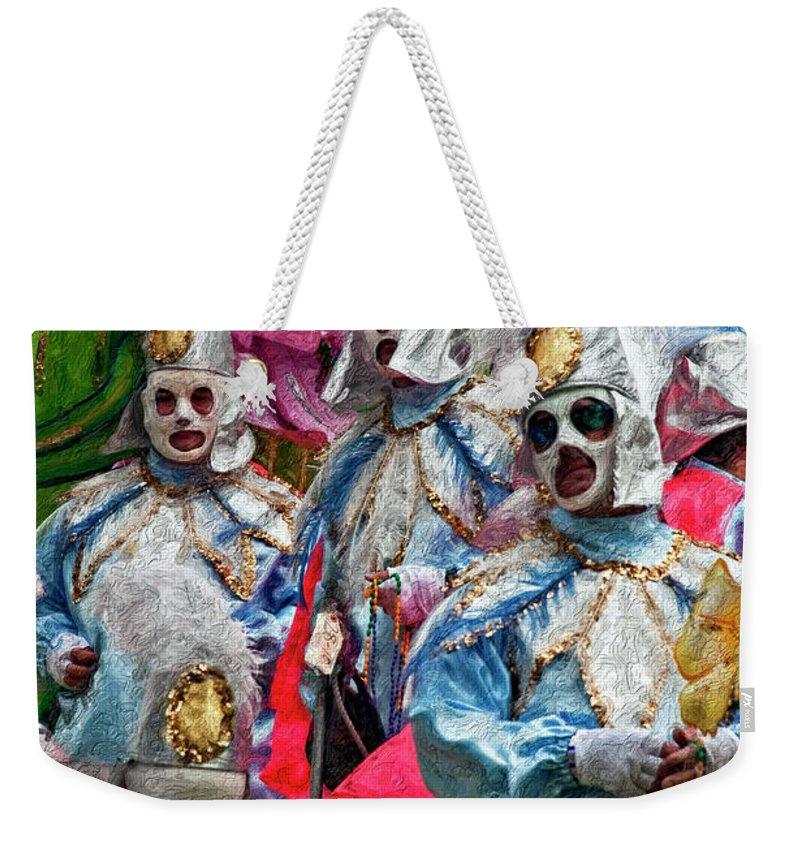 Mardi Gras Weekender Tote Bag featuring the photograph Krewe Of Rex by Kathleen K Parker