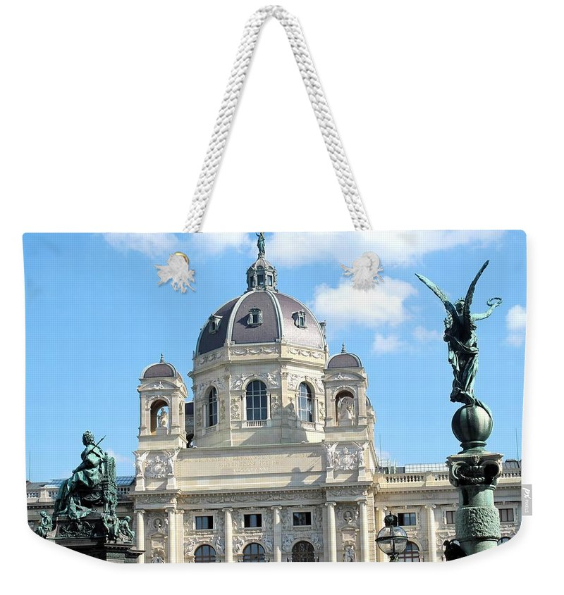 Vienna Weekender Tote Bag featuring the photograph Kunsthistoriches Museum Vienna by Ian MacDonald