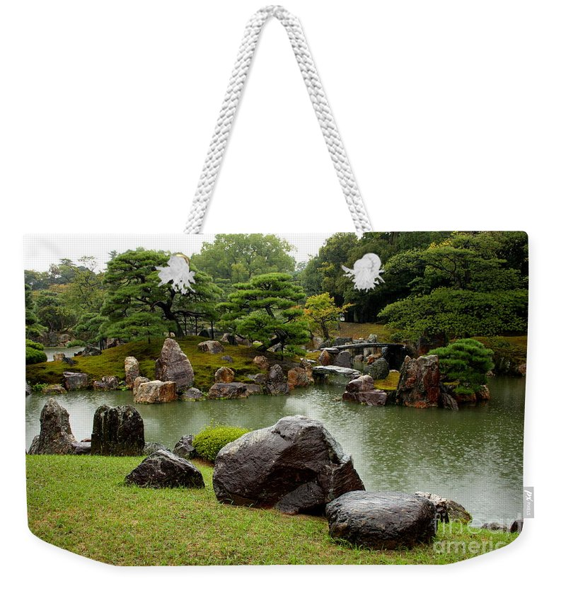 Japan Weekender Tote Bag featuring the photograph Kyoto Garden by Carol Groenen