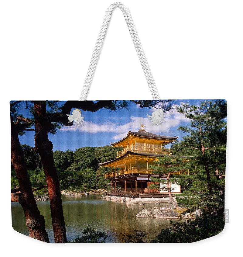 Asia Weekender Tote Bag featuring the photograph Kyoto by Michele Burgess