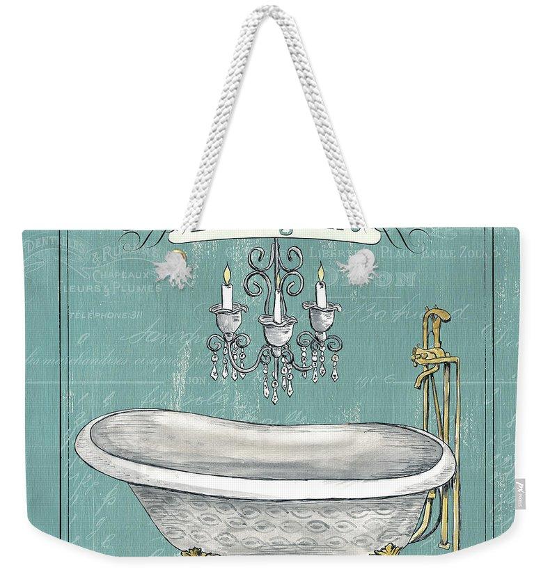 Bath Weekender Tote Bag featuring the painting La Baignoire by Debbie DeWitt