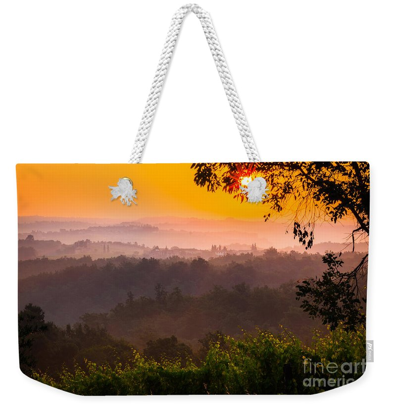 Europe Weekender Tote Bag featuring the photograph La Bella Toscana by Inge Johnsson