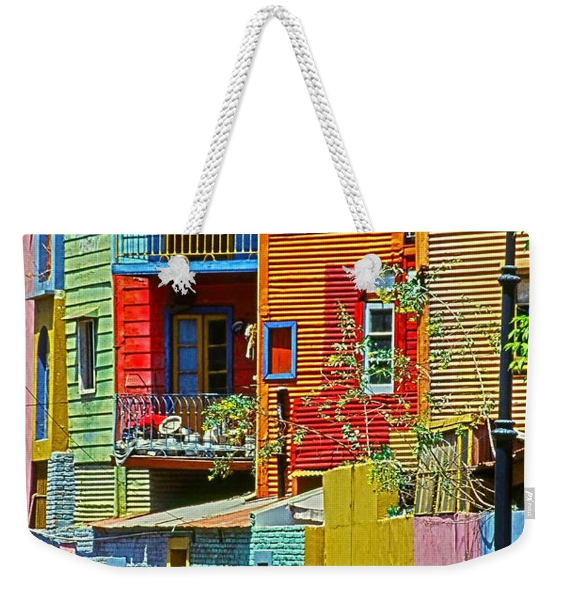 South America Weekender Tote Bag featuring the photograph La Boca - Buenos Aires by Juergen Weiss