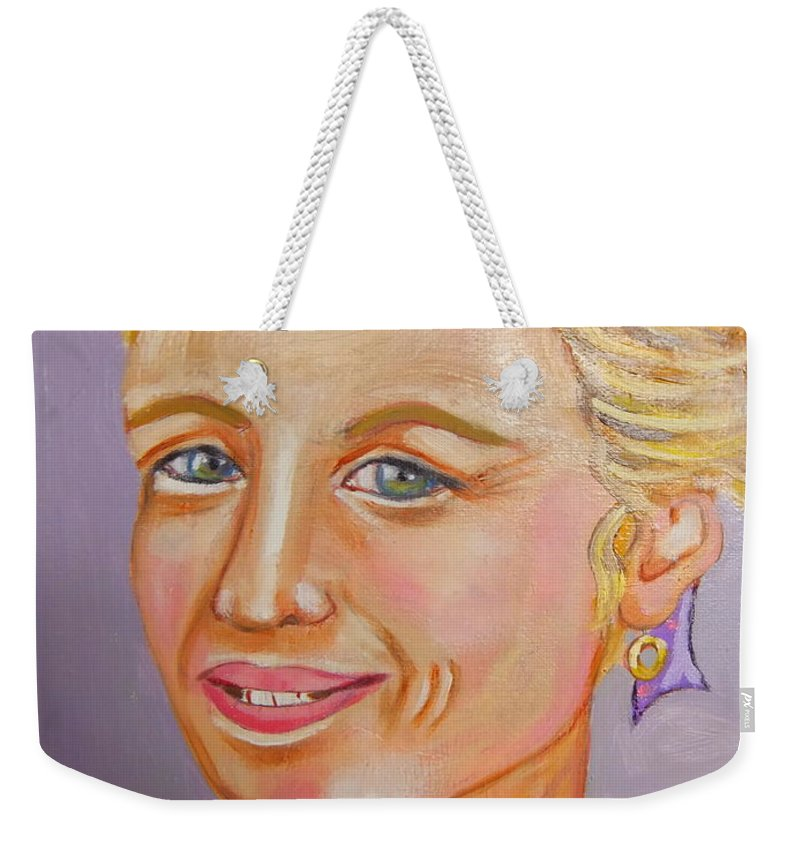 Provence Weekender Tote Bag featuring the painting La Demoiselle de Provence by Rusty Gladdish