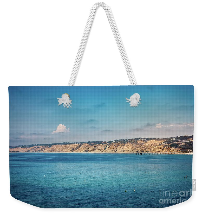 Beach Weekender Tote Bag featuring the photograph La Jolla California Seascape by Leslie Banks