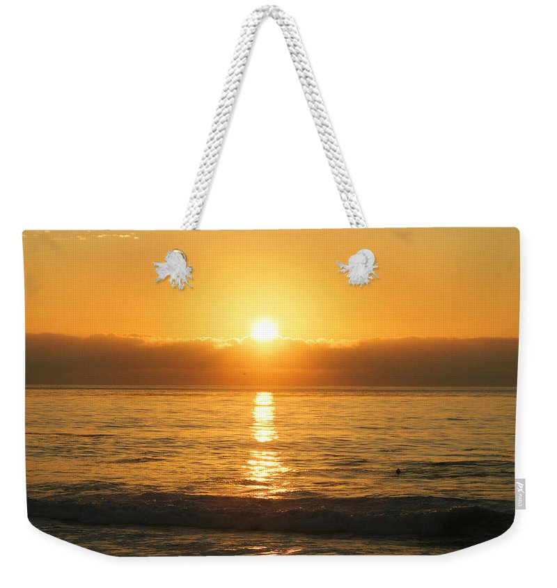 Sunset Weekender Tote Bag featuring the photograph La Jolla Sunset by Anthony Jones