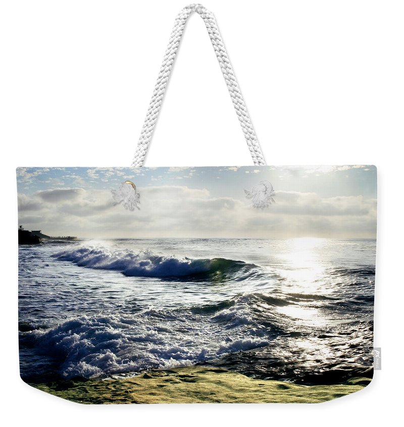 Beach Weekender Tote Bag featuring the photograph La Jolla Towards Casa Cove by Anthony Jones