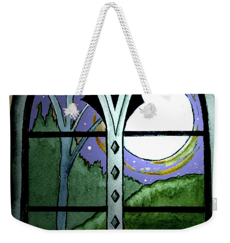 Landscape Weekender Tote Bag featuring the painting La Luna by Brenda Owen