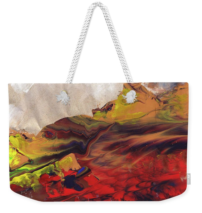 Landscapes Weekender Tote Bag featuring the painting La Mer Rouge by Miki De Goodaboom