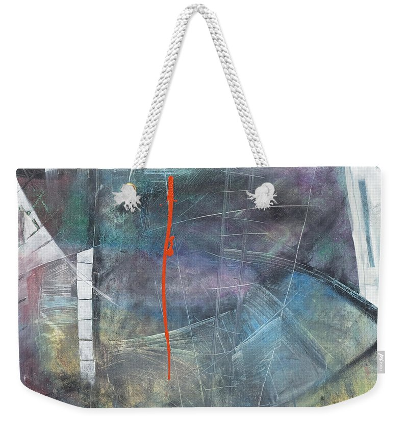Abstract Weekender Tote Bag featuring the painting La Mort Au Cirque by Tim Nyberg