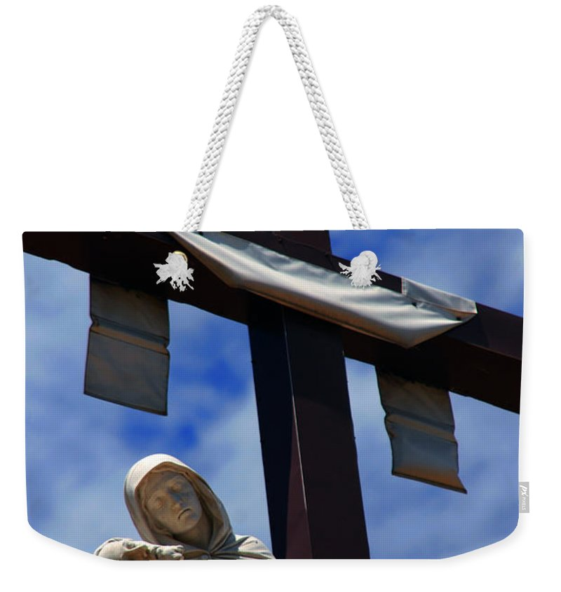 Mother Mary Weekender Tote Bag featuring the photograph La Pieta by Susanne Van Hulst