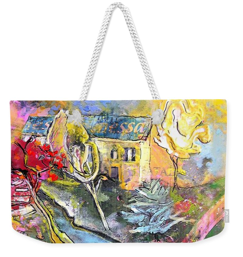 Landscape Painting Weekender Tote Bag featuring the painting La Provence 11 by Miki De Goodaboom