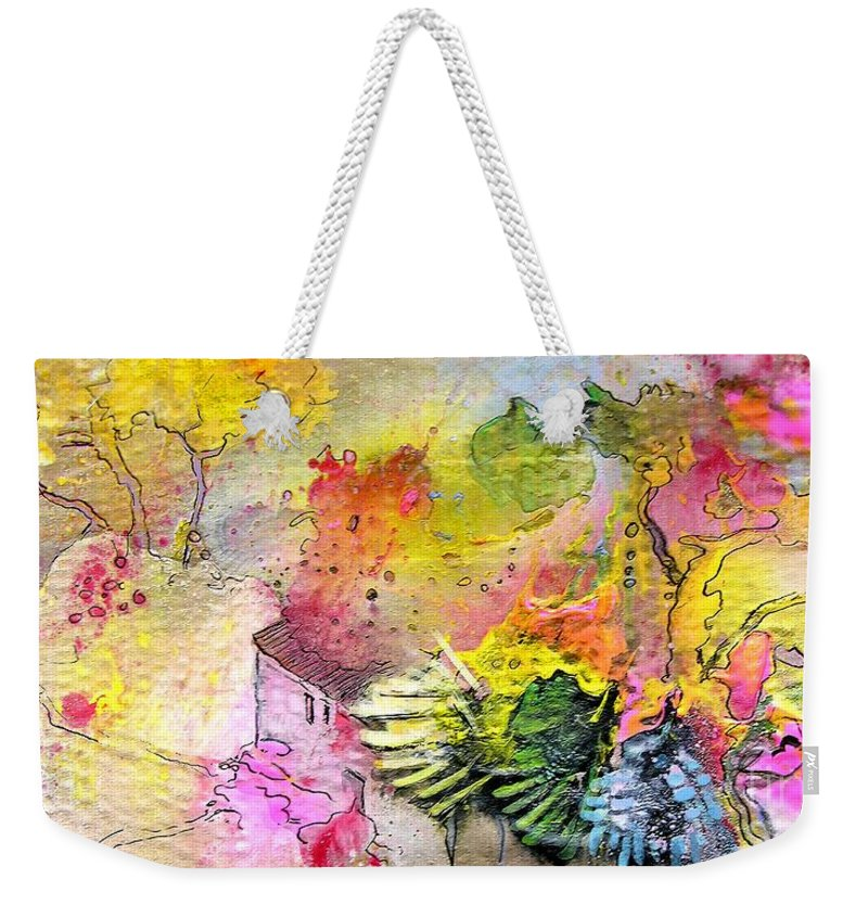 Landscape Painting Weekender Tote Bag featuring the painting La Provence 12 by Miki De Goodaboom