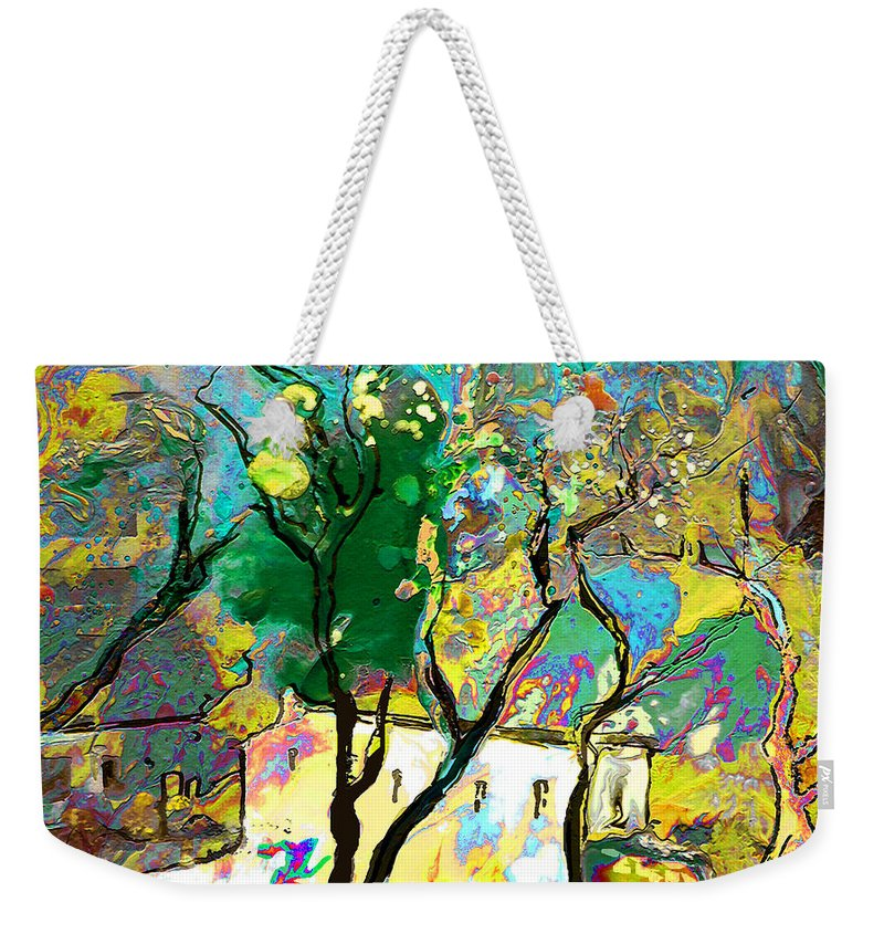 Miki Weekender Tote Bag featuring the painting La Provence 16 by Miki De Goodaboom