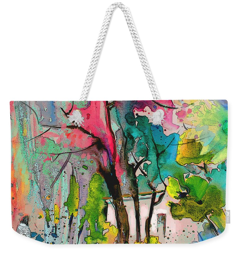 Impressionism Weekender Tote Bag featuring the painting La Provence 17 by Miki De Goodaboom