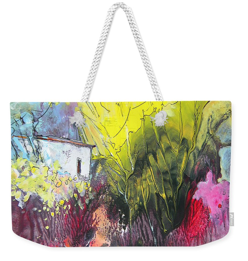 Impressionism Weekender Tote Bag featuring the painting La Provence 18 by Miki De Goodaboom