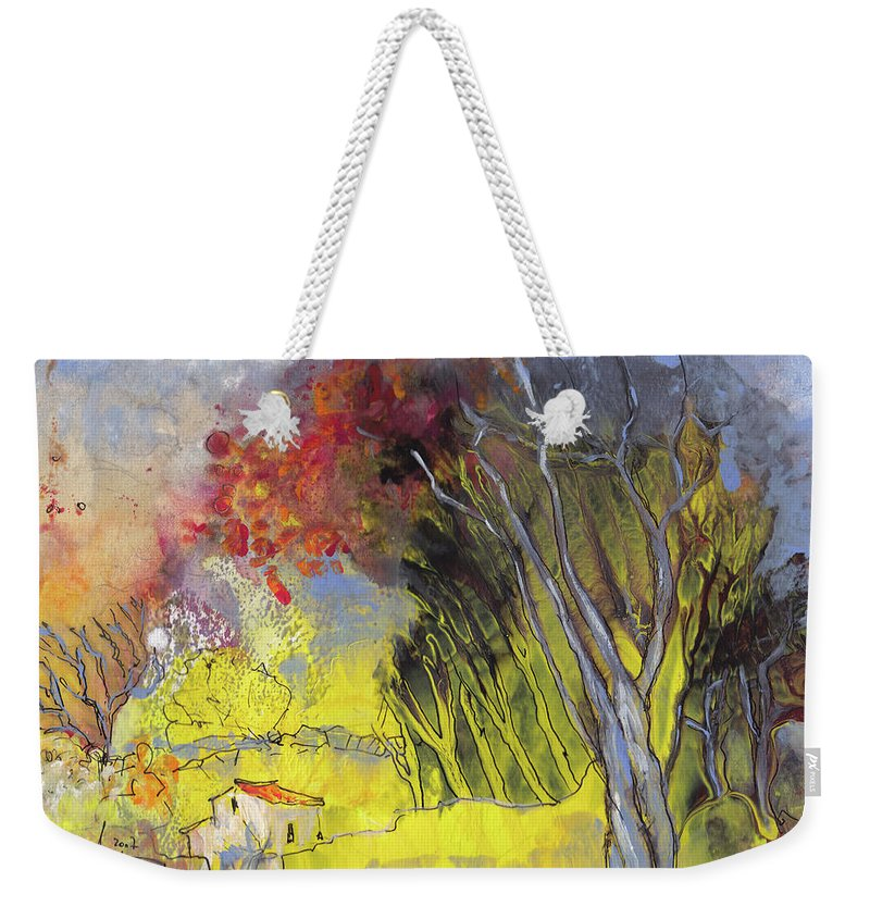 Landscapes Weekender Tote Bag featuring the painting La Provence 26 by Miki De Goodaboom