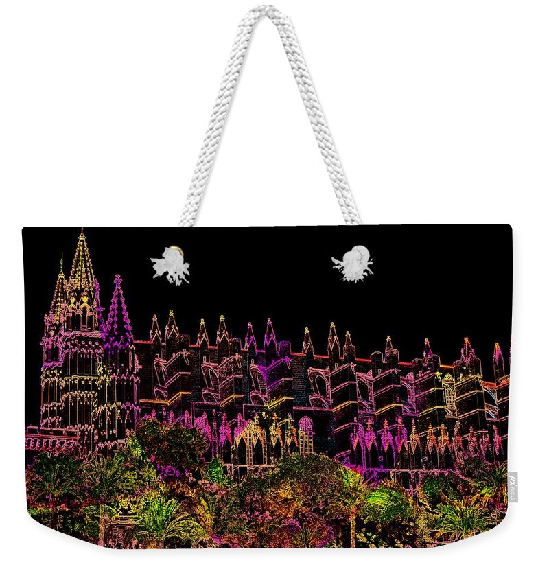 La Seu Weekender Tote Bag featuring the digital art La Seu The Cathedral Of Palma by Helmut Rottler