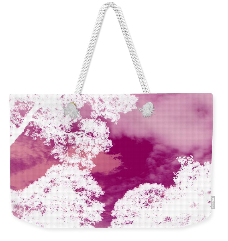 Pink Sky Weekender Tote Bag featuring the photograph La Vie En Rose by Roxy Riou