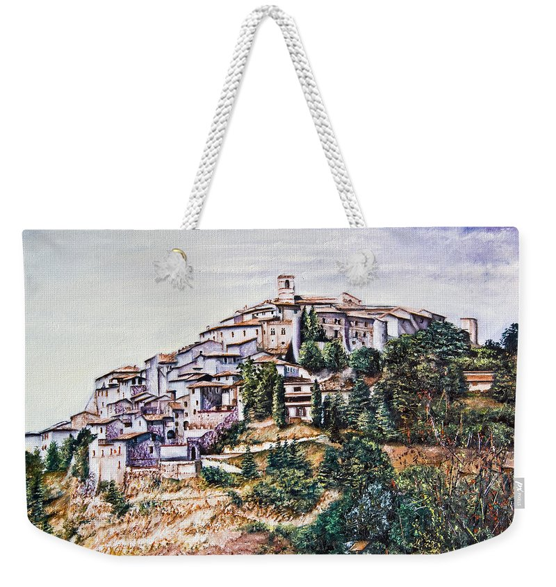 Ancient Weekender Tote Bag featuring the painting Labro by Michel Angelo Rossi