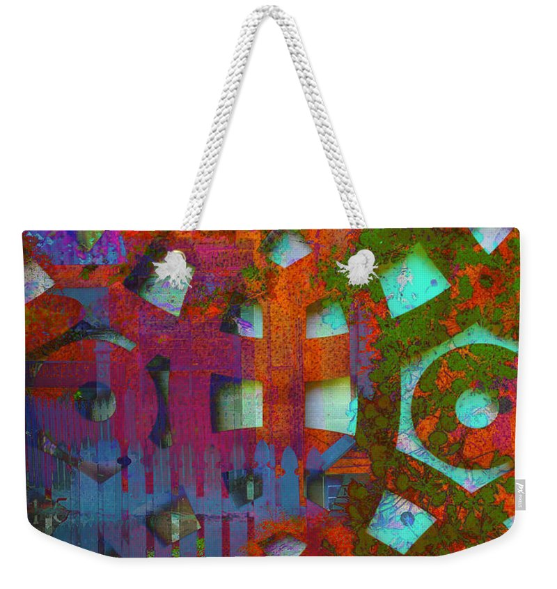 Puzzle Weekender Tote Bag featuring the digital art Labyrinth by Anthony Robinson