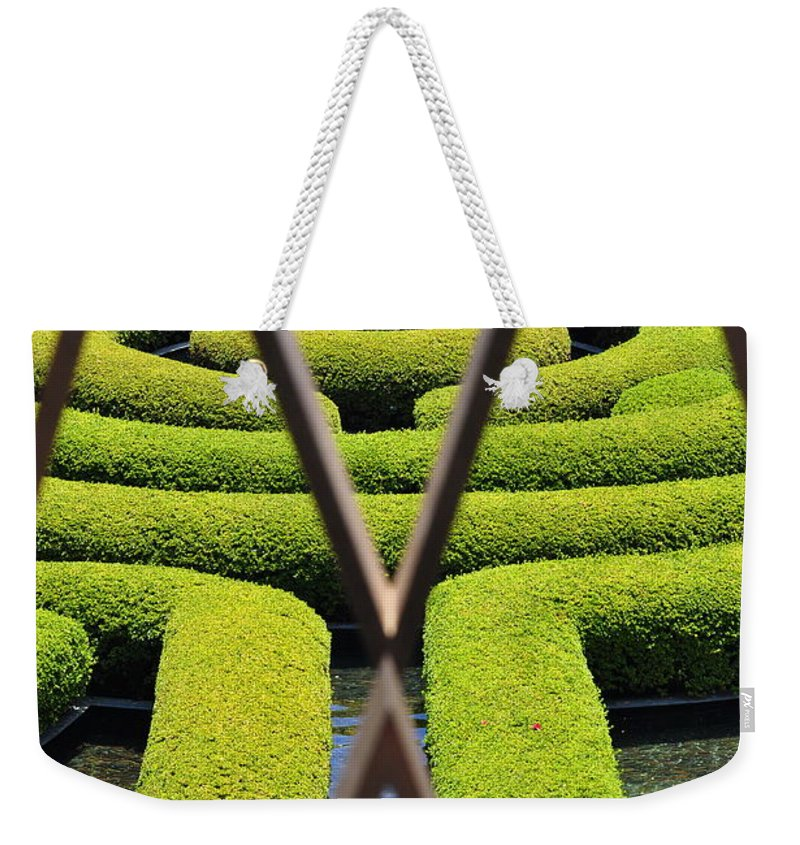 Clay Weekender Tote Bag featuring the photograph Labyrinth At The Getty by Clayton Bruster