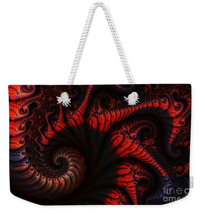 Clay Weekender Tote Bag featuring the digital art Labyrinth by Clayton Bruster