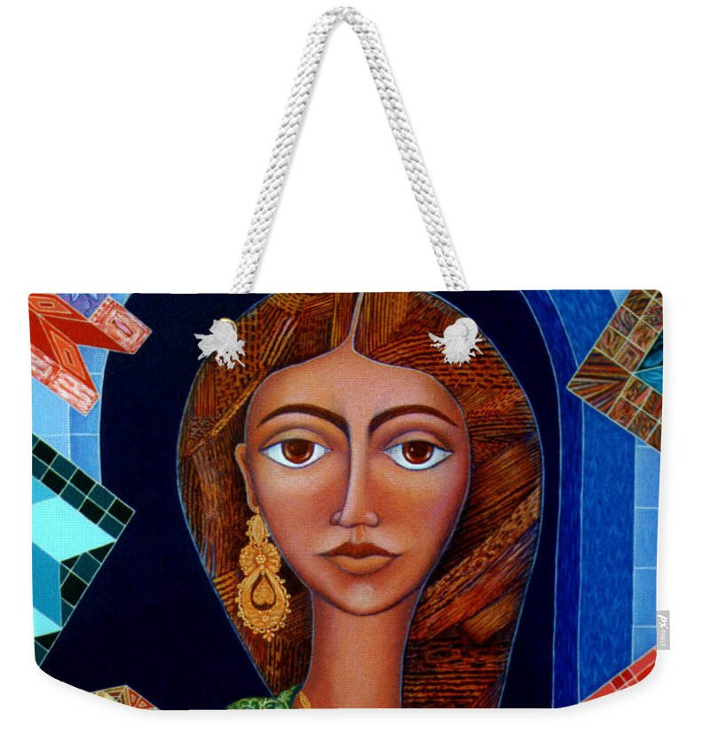Painting Weekender Tote Bag featuring the painting Labyrinth Of Memoirs by Madalena Lobao-Tello