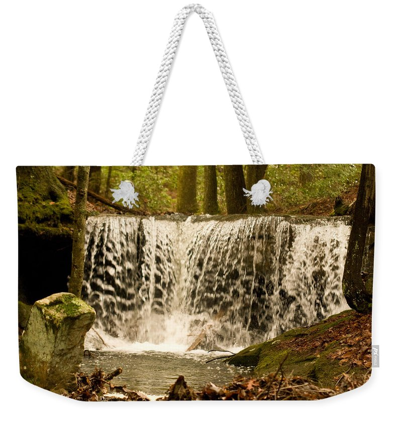 Lacy Weekender Tote Bag featuring the photograph Lacy Waterfall by Douglas Barnett
