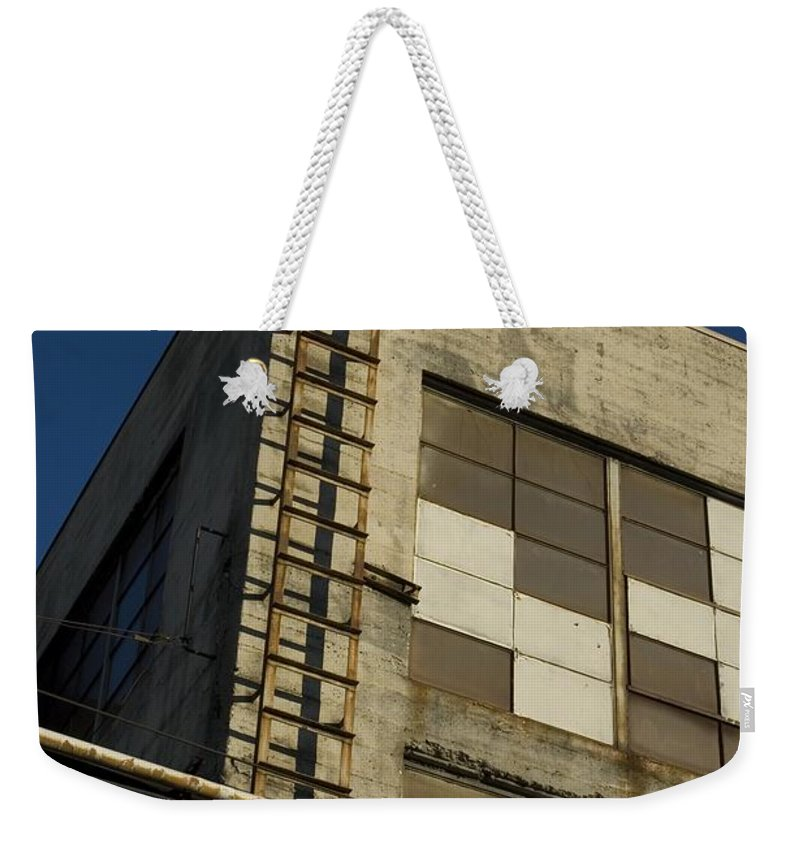 Ladder Weekender Tote Bag featuring the photograph Ladder by Sara Stevenson