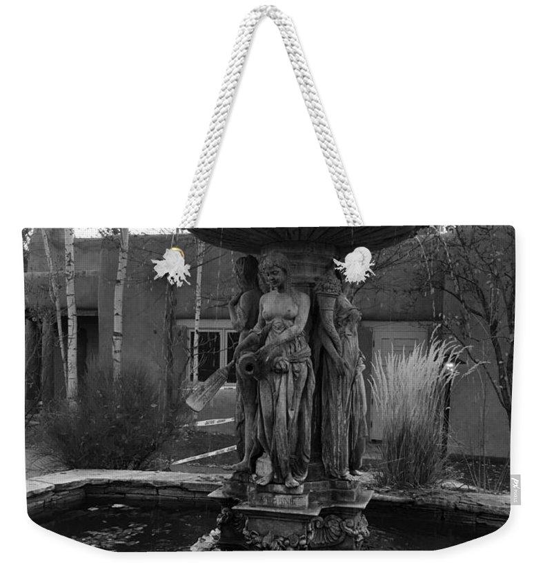 Lady Weekender Tote Bag featuring the digital art Ladies In Freezing Water by Michael Hurwitz