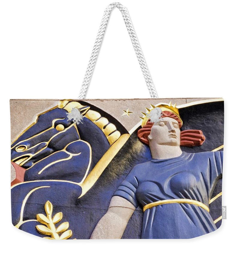 Alicegipsonphotographs Weekender Tote Bag featuring the photograph Lady And Her Pegasus Stallion by Alice Gipson