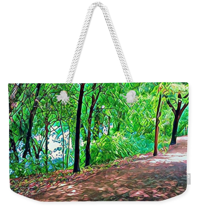 Town Lake Weekender Tote Bag featuring the photograph Lady Bird Trail by Cherylene Henderson