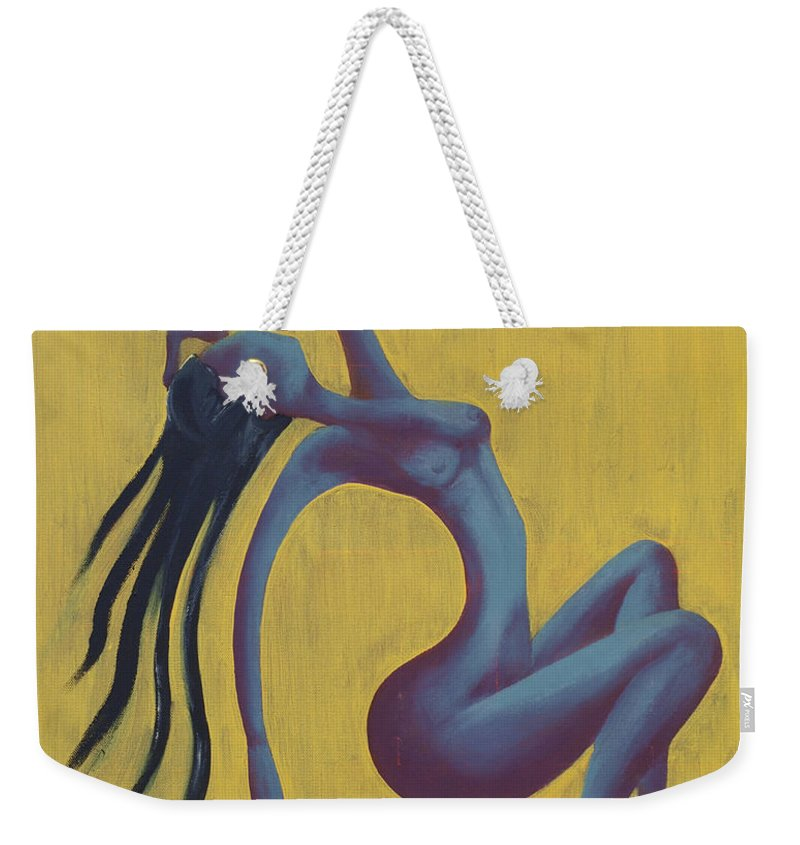 Egypt Weekender Tote Bag featuring the painting Lady Egypt by Kelly Jade King