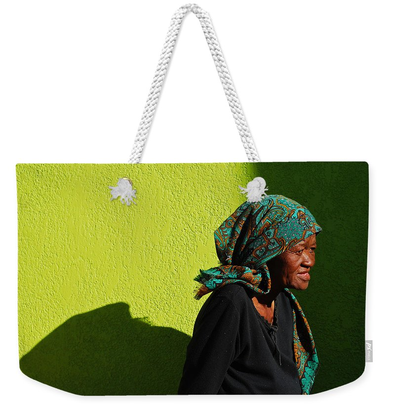 Africa Weekender Tote Bag featuring the photograph Lady In Green by Skip Hunt