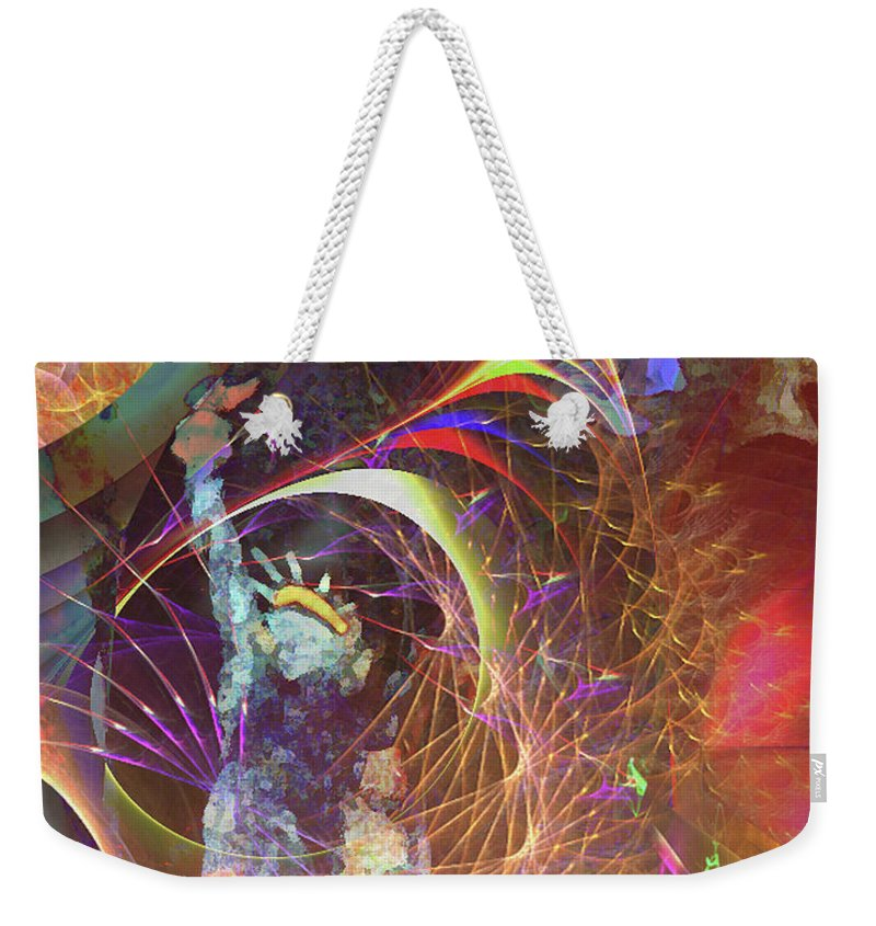 Lady Liberty Weekender Tote Bag featuring the digital art Lady Liberty by John Beck