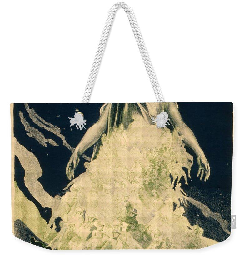 Vintage Weekender Tote Bag featuring the painting Lady Liberty by Vintage Pix