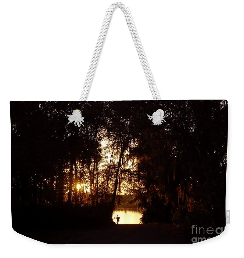 Lake Weekender Tote Bag featuring the photograph Lady Of The Lake by David Lee Thompson