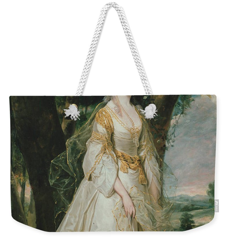 18th Century Art Weekender Tote Bag featuring the painting Lady Sunderlin by Joshua Reynolds