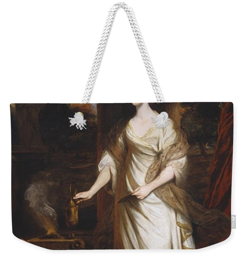Sir Joshua Reynolds 1723–1792  Lady Talbot Weekender Tote Bag featuring the painting Lady Talbot by Sir Joshua Reynolds