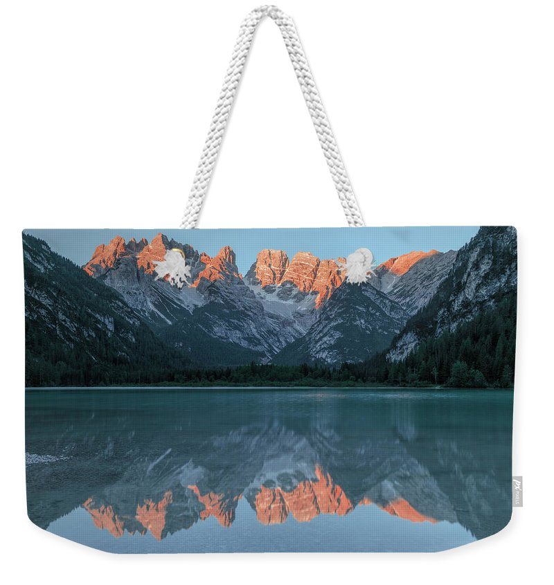 Lago Di Landro Weekender Tote Bag featuring the photograph Lago Di Landro - Italy by Joana Kruse